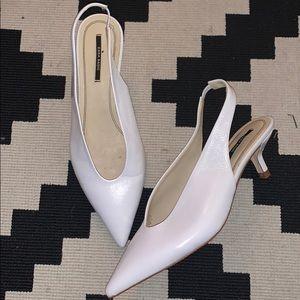 Zara White Kitten Heel